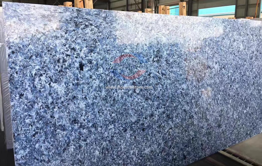 JH-VE014 Blue Butterfly Quartz Slab Surface 4