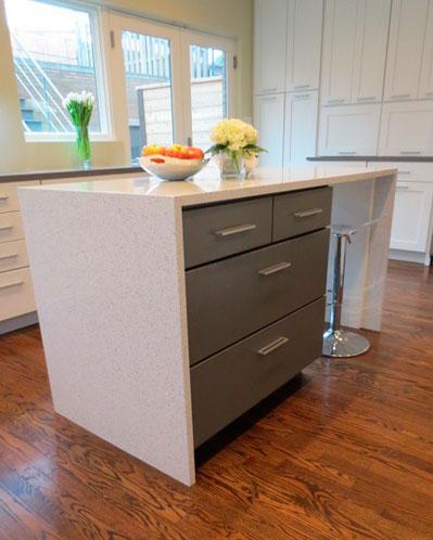 Modern Island White Quartz Kitchen Countertops Quartz Kitchen Countertops