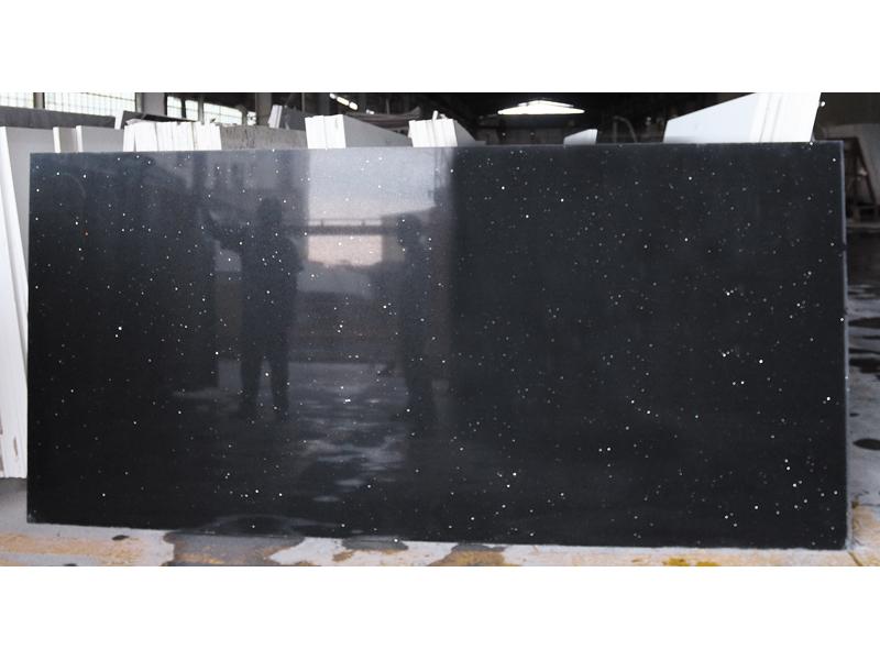 Chinese High Quality Black Quartz Slabs 1