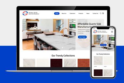 JH IT department accomplish company's quartz stone website and publish