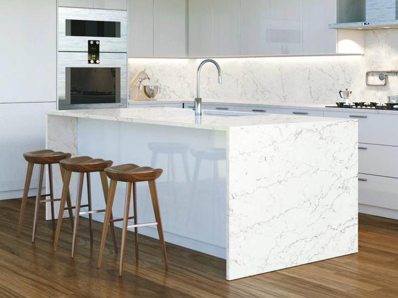 Best Price Chinese Carrara White Quartz Stone Countertops  Quartz Kitchen Countertops 1