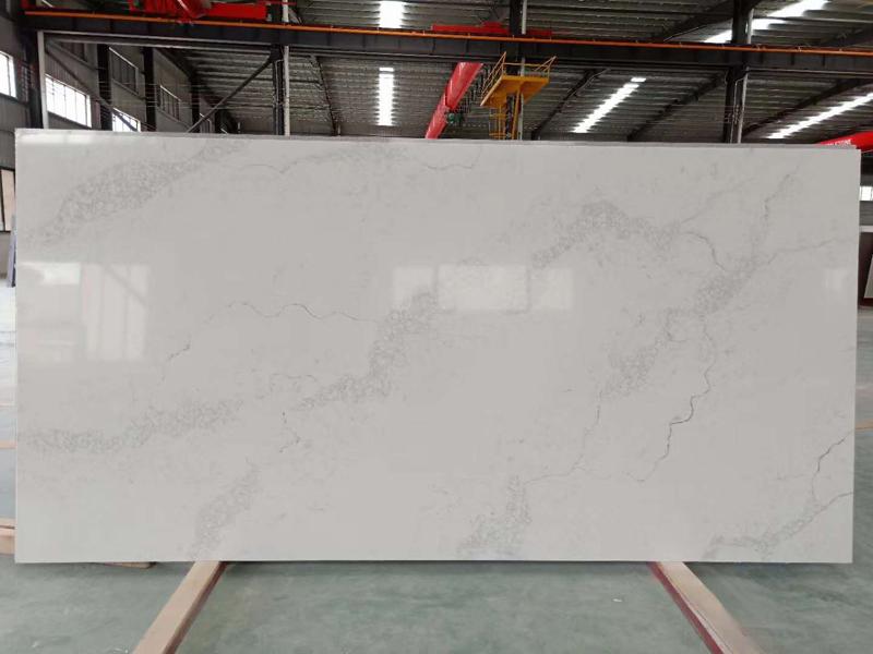Best Price Chinese Carrara White Quartz Stone Countertops  Quartz Kitchen Countertops 2
