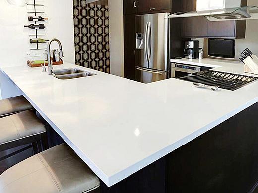 Best White Color Quartz Kitchen Worktops