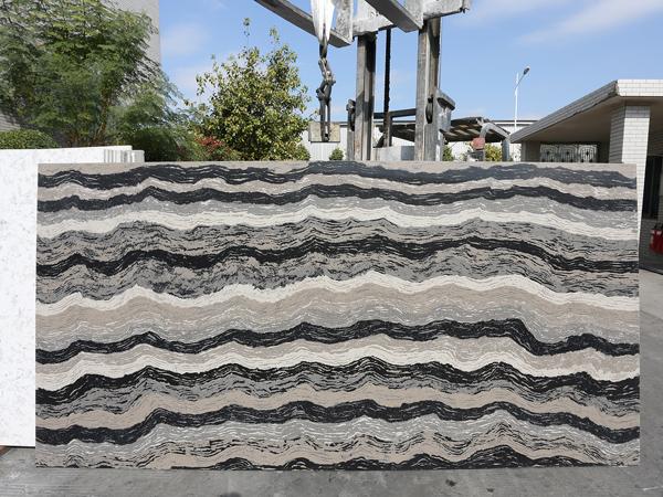 Calacatta Grey Quartz Stone Slabs With 2cm 3cm Thickness