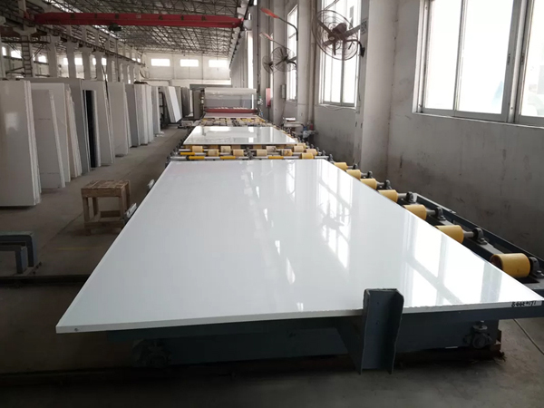 Pure White Engineered Manmade Stone Quartz Slabs