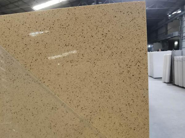 China Starfish Beige Quartz Kitchen Countertops Manufacturer 3